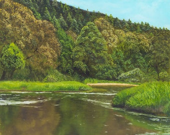 "Original oil painting ""River"""