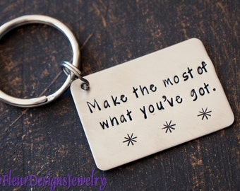 Custom Key Chain, Custom Message Key Chain, Personalized Keychain, Hand Stamped Keychain