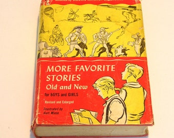 More Favorite Stories Old and New for Boys and Girls Vintage Book