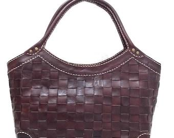 Queen Woven Leather Handbag