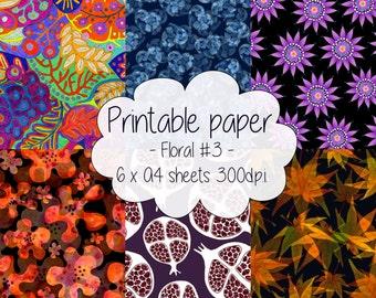 Printable paper: Floral set #3