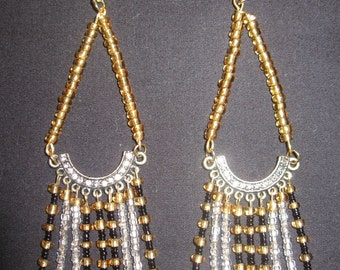 Beaded Drop Earring E015