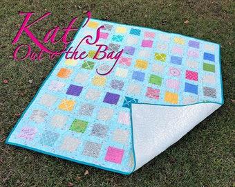 Guest Book Quilt | Wedding Reception Quilt | Name Plate Rag Quilt | Keepsake Quilt | Signature Quilt | Custom Quilt Blanket