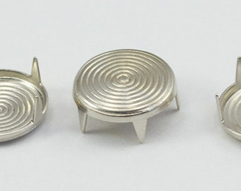 Silver Round Target Bedazzler Metal Studs Nailheads - 3 Sizes