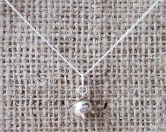 Sterling silver witches cauldron necklace
