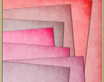 INSTANT DOWNLOAD - Essential Plains Paper Pack 4 Digital Papers - 12 x 12 Papers pink, rose, fushia,