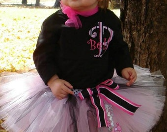 Girls Personalized 50s Poodle Tutu Set Birthday / Halloween Costume (Newborn - 5T)