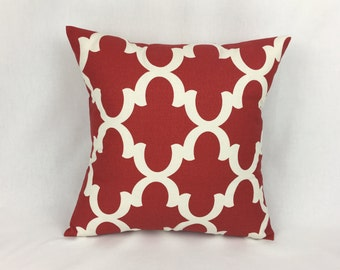 Square Throw Pillow Covers 20x20 - 20x20 Red Pillow Cover - Red Throw Pillow Cover 20x20