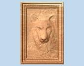 Wolf Wood Wall Art - 10 x...
