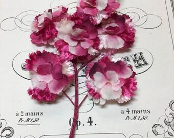 Vintage millinery floral spray pink