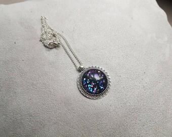 long necklace mi sequin black multicolor