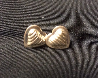 925 sterling silver hoop heart earrings