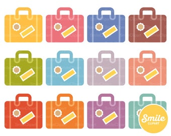 Suitcase Clipart Illustration for Commercial Use | 0298