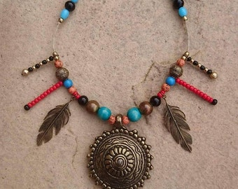 Mumbi necklace, tribal jewellery, boho, hippy, ethical fashion, ecofriendly fashion, upcycled, recycled, repurposed