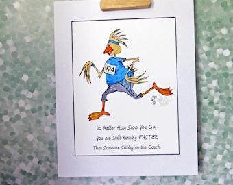 Runner Motivation Art Print Women Encouragement Inspiration to Go Running Be Healthy 11x14 mat