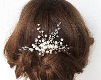 SUNNY WHITE | Bridal hair comb, pearl hair comb, wedding accessory, bridal headpiece, wedding headpiece, decorative comb