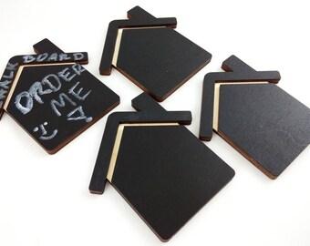 4 pcs. set, ChalkBoard House Wooden Refrigerator Magnet, Kitchen Magnet, Magnets, Kitchen Decor, Chalk, Custom