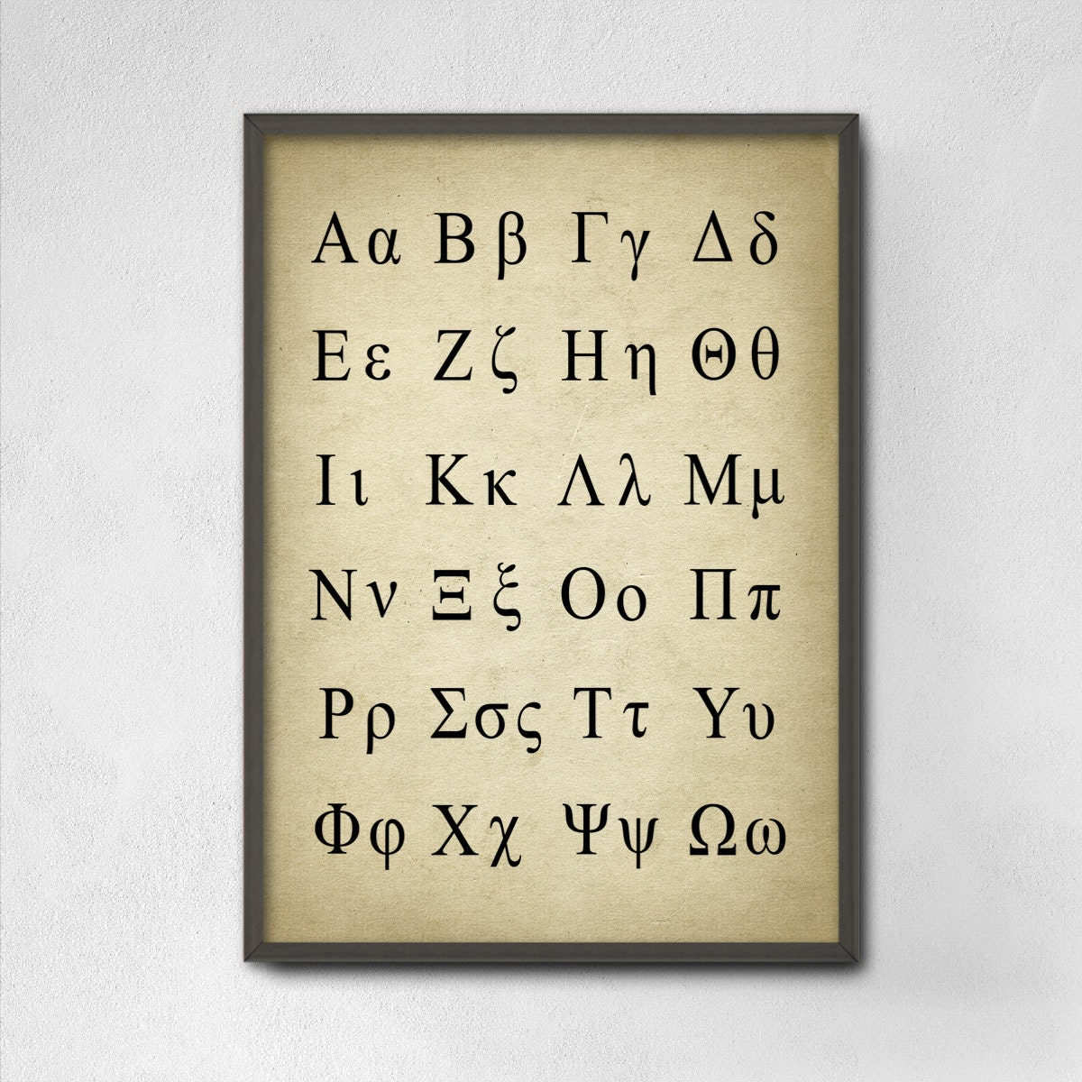 Greek alphabet poster greek language science print greek zoom biocorpaavc Image collections