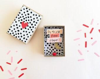 Boîte diorama message amour -  petite boîte à message - Saint valentin - Valentine gift - Cadeau amour - Cadeau Saint valentin - Valentin