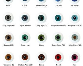 Meister Glasseyes - Lt Violet 10mm / Glib