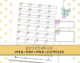 Put A Bow On It/Printable Planner Stickers for Erin Condren Planner/Happy Planner/Personal Planner/Travelers Notebook/Appointment Label