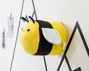 Nursery wall art, baby gift, nursery decor, bee wall art, stuffed bee, girls bedroom, kids decor, kids room art, bee lover, taxidermy bee