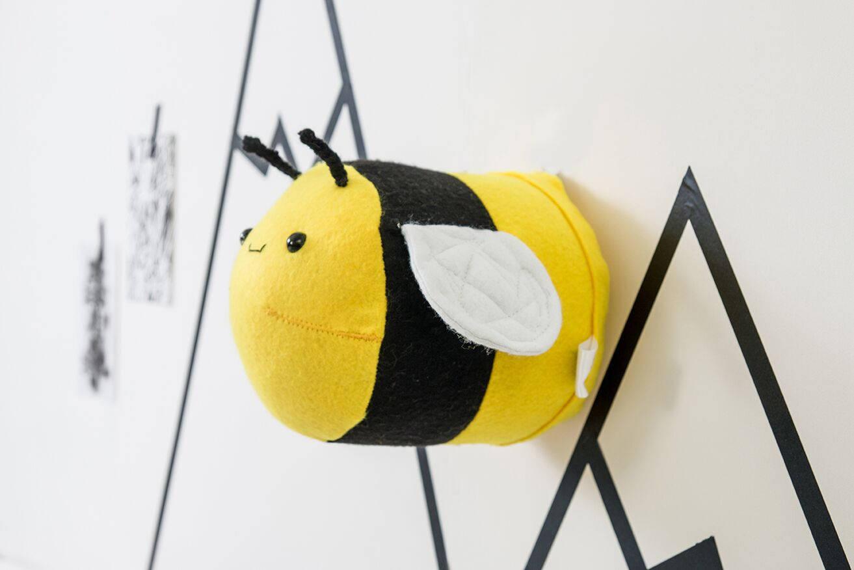 Nursery wall art baby gift nursery decor bee wall art