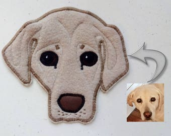 Dog Portrait Custom Patch. Personalized Dog Gift. Labrador Retriever