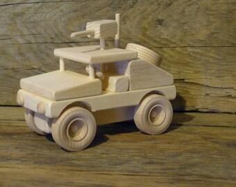 Handmade Wood Toy Logging Skidder Wooden Toys John Deere