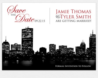 PRINTABLE Boston Skyline Save the Date