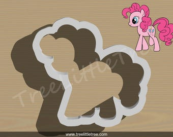 Pinkie Pie Cookie Cutter. My Little Pony cookie cutter. 3D Printed. Baking Gifts. Custom Cookies.
