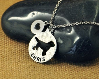 Labrador Dog necklace, Personalized Dog Necklace,Custom Dog Name Pendant , Dog Charm, Pet Jewelry