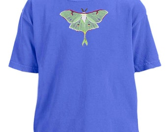 Luna Moth youth garment dyed t-shirt