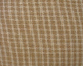 Cotton Homespun Fabric | Primitive Fabric | Rag Quilt Fabric | Doll Making Fabric | Wheat Fine Check Fabric | Woven Cotton Fabric