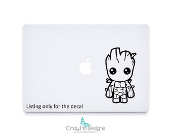 Chibi Groot Decal Sticker - 3.5 x 6.25 inches - Macbook, iPad Apple Macbook Air, Tablet Decal, Car Decal