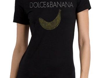 Dolce & Banana Rhinestone T-shirt