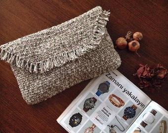 A crochet bag|100% handmade bag|Knit handbag|Pouch|Women bag|Portfolio