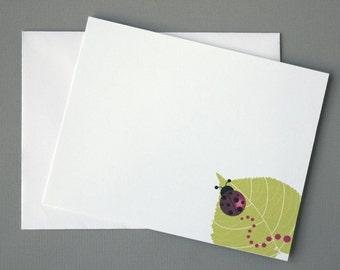 Ladybug A2 Flat Note Cards (Set of 10)