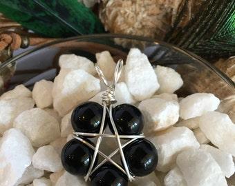 Black Onyx Pentacle Pendant