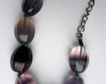 Fluorite necklace beads | statement jewellery | natural stone necklace | modern design | Gift for her |
