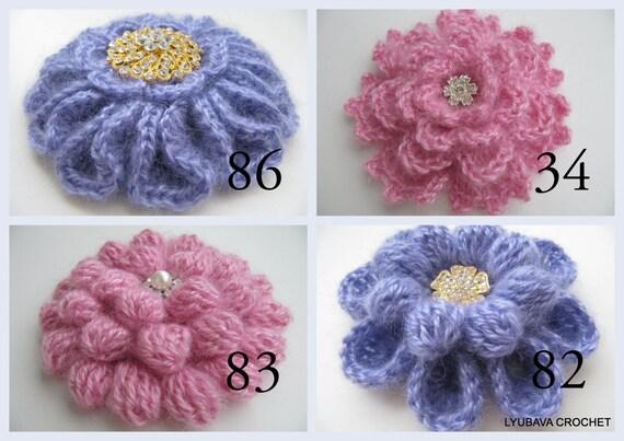 Crochet Patterns Crochet Brooch Pattern Unique Flowers 3d Crochet