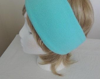 Light Turquoise Fleece Headband, Fleece Ear Warmer, Fleece Ear Muff, Fleece Ear Band, Head Wrap, Head Band, Fleece Head Warmer, Ear Covering