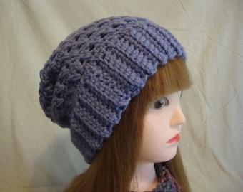 Purple Slouchy Hat, Womens Purple Slouchy Hat, Lavender Slouchy Hat, Womens Lavender Slouchy Hat, Slouch Hat, Slouchy Hat, Womens Slouch Hat