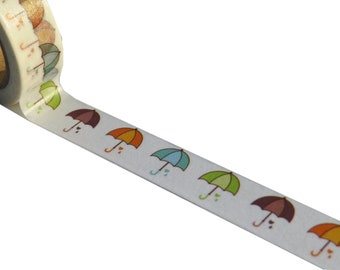 Colourful Umbrellas Themed Washi Masking Tape