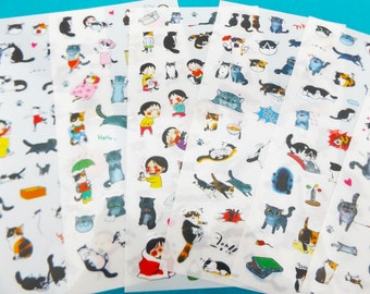 Cat Stickers // 200+ Planner Stickers • Kawaii Stationery • Bullet Journal Stickers • Scrapbooking • Diary Sticker • Cute Stickers • Crafts