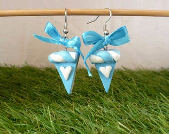 Pieces of cake earrings