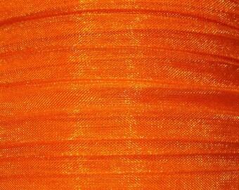 1 meter wide orange 8mm organza Ribbon