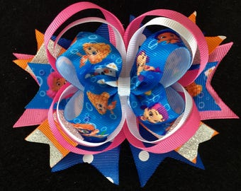 Bubble Guppies Stacked Hairbow