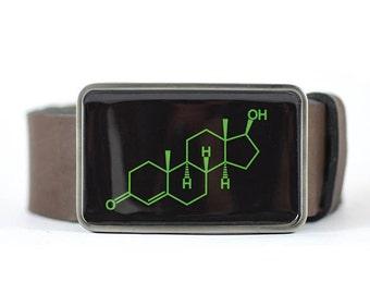 Testosterone Belt Buckle, Mens belt buckle, Molecule Belt Buckle, Science belt buckle, Chemistry belt buckle, gift for him, cool belt buckle