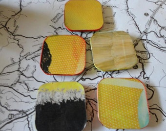 Yellow Magnet Set of Five